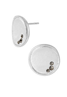 Kenneth Cole New York Silver Concave Stud Earrings