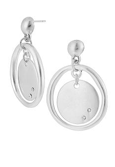 Kenneth Cole New York Silver Circle Orbital Drop Earrings