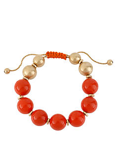 Kenneth Cole New York Coral & Gold Bead Adjustable Bracelet