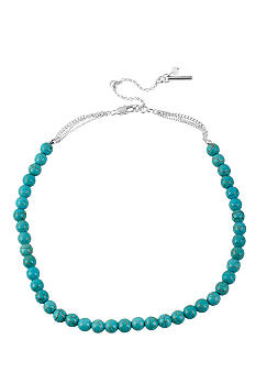 Kenneth Cole New York Semi Precious Turquoise Bead Strand Necklace