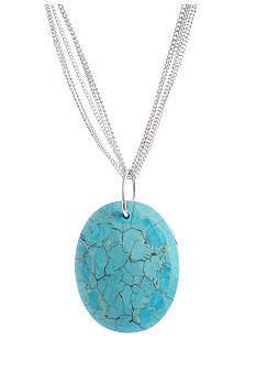 Kenneth Cole New York Semi Precious Turquoise Oval Pendant