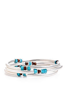 Kenneth Cole New York Semi Precious Turquoise Bead Stretch Bracelet Set