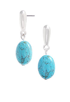Kenneth Cole New York Semi Precious Turquoise Bead Drop Earrings
