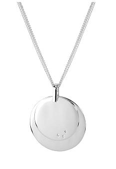 Kenneth Cole New York Silver Layered Circle Pendant