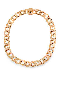 Kenneth Cole Gold-Tone Circle Link Chain Necklace