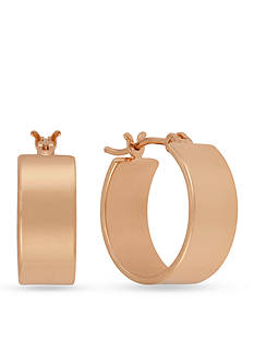 Kenneth Cole Rose Gold-Tone Small Huggie Hoop Earrings