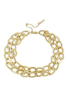 Kenneth Cole New York Oval Link 2 Row Necklace