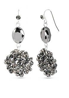 Kenneth Cole Black Bead Double Drop Earrings