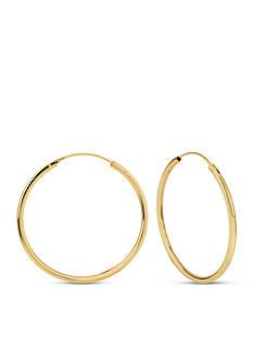 Kenneth Cole Gold-Tone Medium Hoop Earring