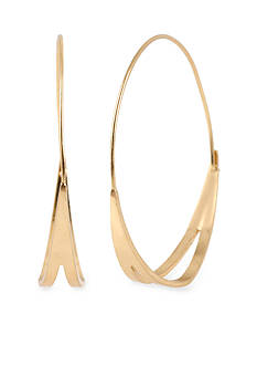 Kenneth Cole Cut-Out Hoop Earring