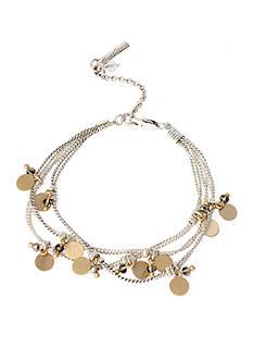 Kenneth Cole Two-Tone Gold & Black Diamond Flex Bracelet