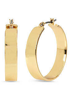 Kenneth Cole Wide Hoop Gold-Tone Earring