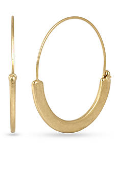 Kenneth Cole Gold-Tone Sculptural Hoop Earrings