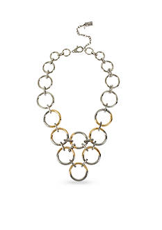 Kenneth Cole Two-Tone Circle Link Collar Necklace