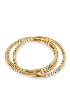 Kenneth Cole Gold-Tone Interlinked Bangle Bracelet Set