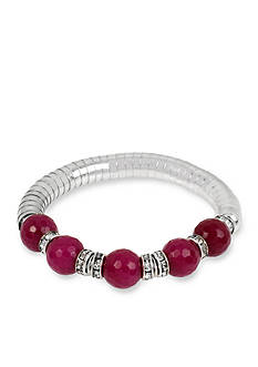 Kenneth Cole New York Silver-Tone Berry Bead Stretch Bracelet