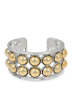 Kenneth Cole New York Two-Tone Ball Cuff Bracelet