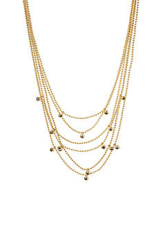 Kenneth Cole Gold-Tone Black Diamond Layered Necklace