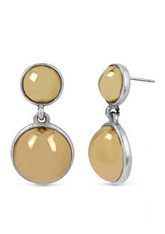 Kenneth Cole New York Two-Tone Double Ball Drop Earrings