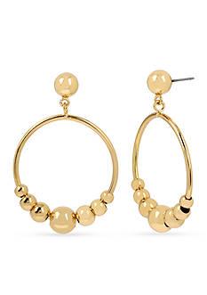 Kenneth Cole Gold-Tone Ball Gypsy Hoop Earrings