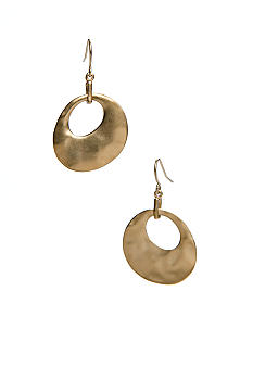 Kenneth Cole New York Hammered Gold Tone Dropped Earring