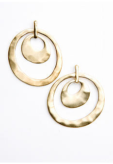 Kenneth Cole New York Orbital Double-Drop Earrings