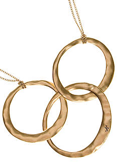 Kenneth Cole Goldtone 3-Circle Necklace