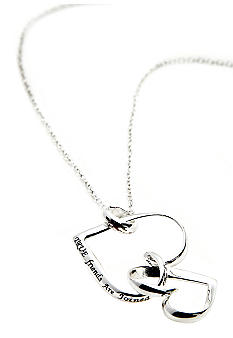 Belk Silverworks True Friends Joined Heart Necklace