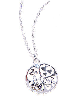 Belk Silverworks Faith Friendship Family Love Pendant