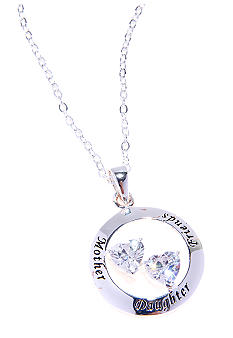 Belk Silverworks Mother Daughter Friends Pendant