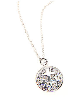 Belk Silverworks Faith Hope Love Triple Cross Pendant Necklace