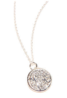 Belk Silverworks Mom Crystal Pendant Necklace