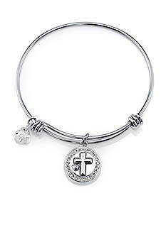 Belk Silverworks Life's Moments Faith Hope Love Bangle Bracelet