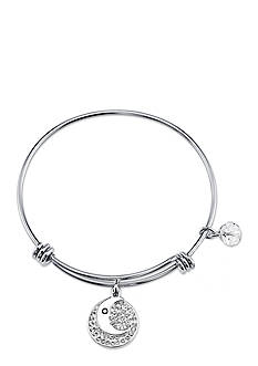 Belk Silverworks Life's Moments Love You To The Moon And Back Bangle Bracelet