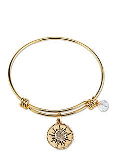 Belk Silverworks Stainless Steel Gold-Tone You Are My Sunshine Bangle Bracelet