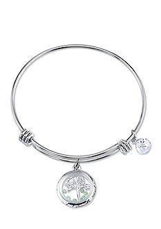 Belk Silverworks Stainless Steel Our Family a Circle of Strength Bangle Bracelet