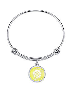 Belk Silverworks Stainless Steel You Are My Sunshine Bangle Bracelet