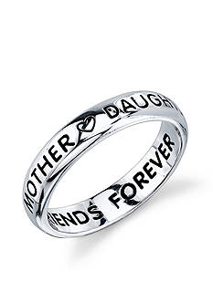 Belk Silverworks Sterling Silver 'Mother Daughter Friends Forever' Heart Band Ring