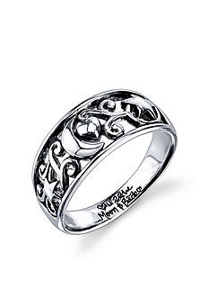 Belk Silverworks Sterling Silver 'Love You to the Moon and Back' Silver Ring