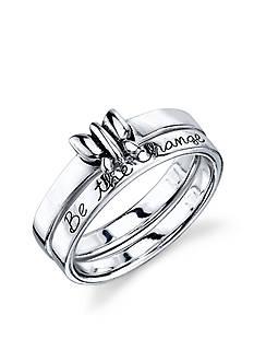 Belk Silverworks Sterling Silver 'Be The Change' Ring Set