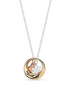 Belk Silverworks Sterling Silver Disney Three Piece Let it Go Heart Snowflake Frozen Necklace
