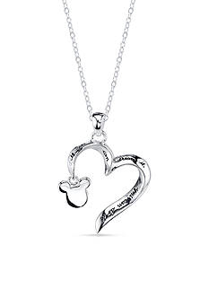 Belk Silverworks Sterling Silver If You Can Dream It You Can Do It Open Heart Mickey Mouse