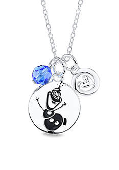 Belk Silverworks Sterling Silver Disney 'Some People are Worth Melting For' Two Piece with Heart Frozen Crystal Necklace