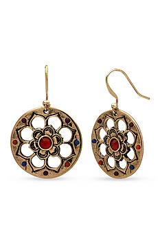 ND New Directions Gold-Tone Bead Fusion Earrings
