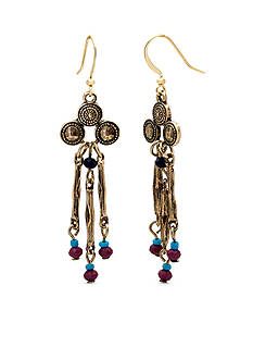 New Directions Gold-Tone Bead Fusion Chandelier Earrings