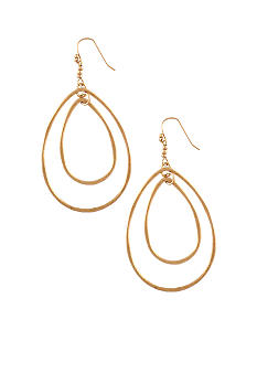 Jessica Simpson Gold Double Drop Earrings