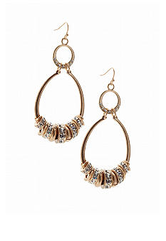 Jessica Simpson Gold Oval Spacers Earrings