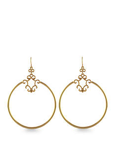 Jessica Simpson Gold Drop Hoop Earrings