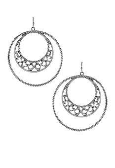 Jessica Simpson Chic Frills Hoop Earrings