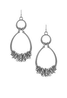 Jessica Simpson Oval Silver Earrings